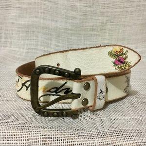 Ed Hardy Tattoo Style Genuine Leather Belt